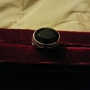 Silpada sterling and black onyx ring